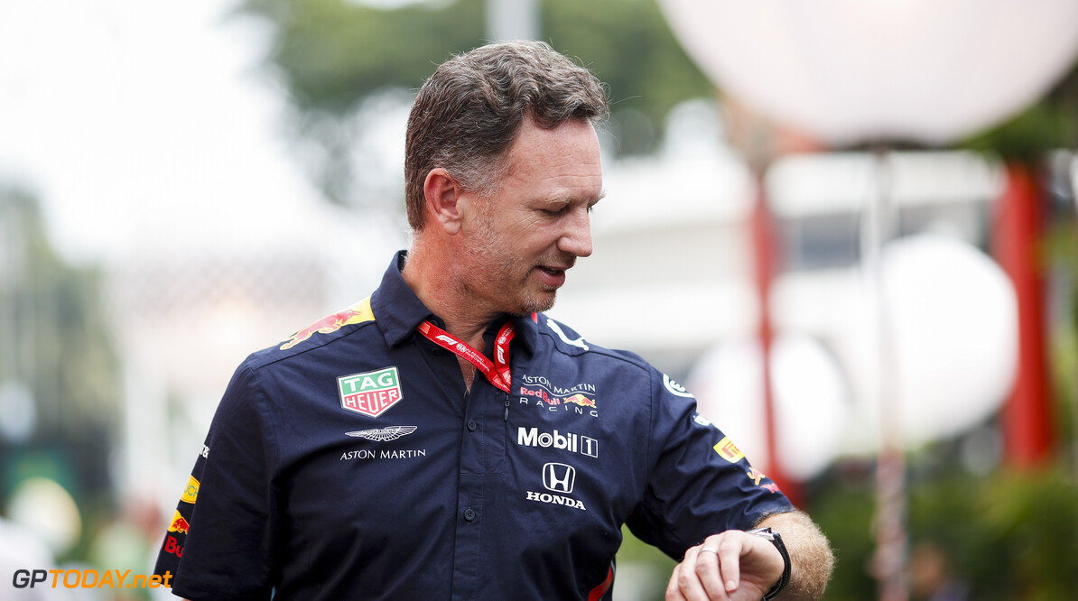 2019 Singapore GP SINGAPORE STREET CIRCUIT, SINGAPORE - SEPTEMBER 21: Christian Horner, Team Principal, Red Bull Racing during the Singapore GP at Singapore Street Circuit on September 21, 2019 in Singapore Street Circuit, Singapore. (Photo by Joe Portlock / Motorsport Images) 2019 Singapore GP Joe Portlock  Singapore  Portrait
