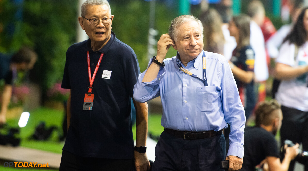 2019 Singapore GP SINGAPORE STREET CIRCUIT, SINGAPORE - SEPTEMBER 20: Jean Todt, President, FIA during the Singapore GP at Singapore Street Circuit on September 20, 2019 in Singapore Street Circuit, Singapore. (Photo by Simon Galloway / Motorsport Images) 2019 Singapore GP Simon Galloway  Singapore  Portrait
