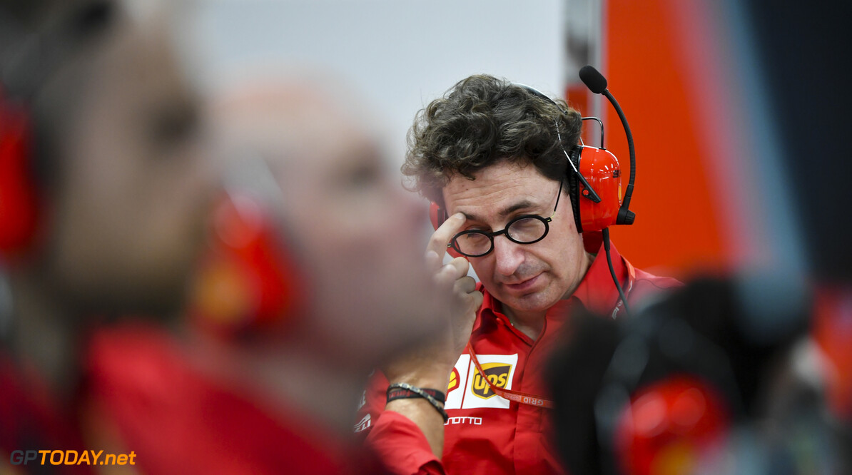 2019 Singapore GP SINGAPORE STREET CIRCUIT, SINGAPORE - SEPTEMBER 20: Mattia Binotto, Team Principal Ferrari during the Singapore GP at Singapore Street Circuit on September 20, 2019 in Singapore Street Circuit, Singapore. (Photo by Mark Sutton / Motorsport Images) 2019 Singapore GP Mark Sutton  Singapore  Portrait