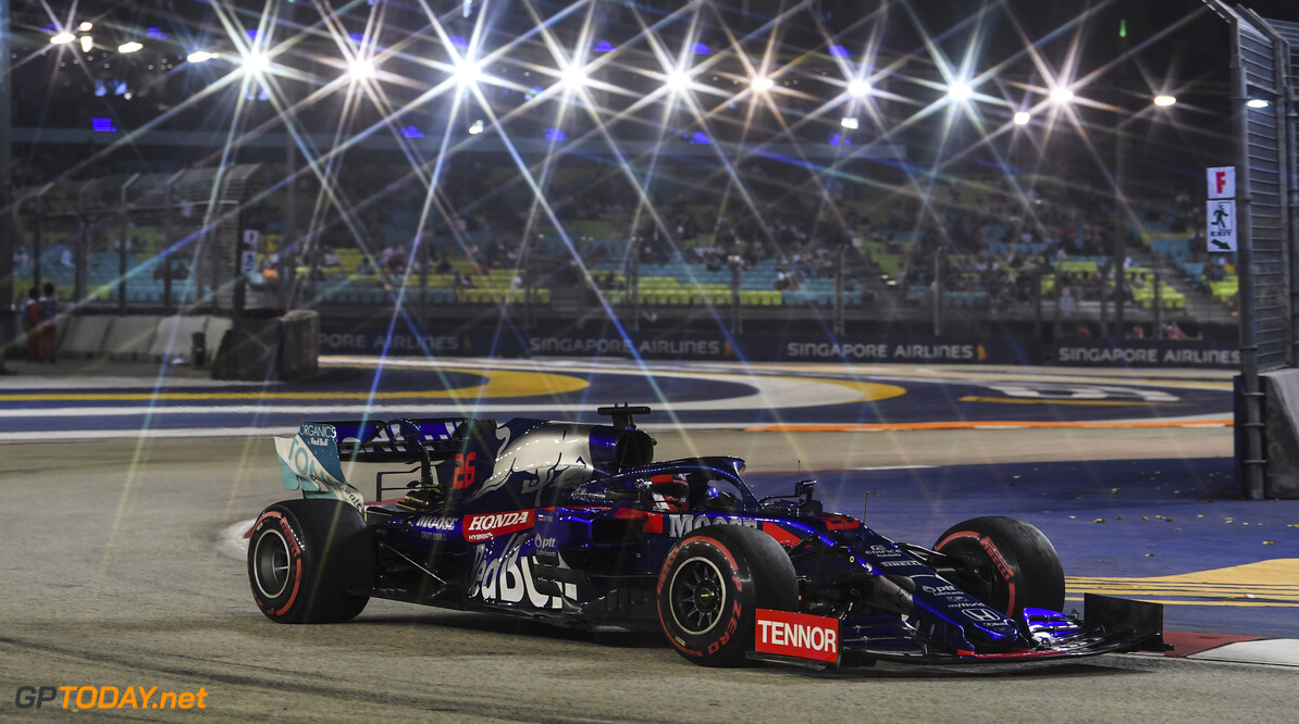 2019 Singapore GP SINGAPORE STREET CIRCUIT, SINGAPORE - SEPTEMBER 20: Daniil Kvyat, Toro Rosso STR14 a during the Singapore GP at Singapore Street Circuit on September 20, 2019 in Singapore Street Circuit, Singapore. 2019 Singapore GP MarkSutton  Singapore  action