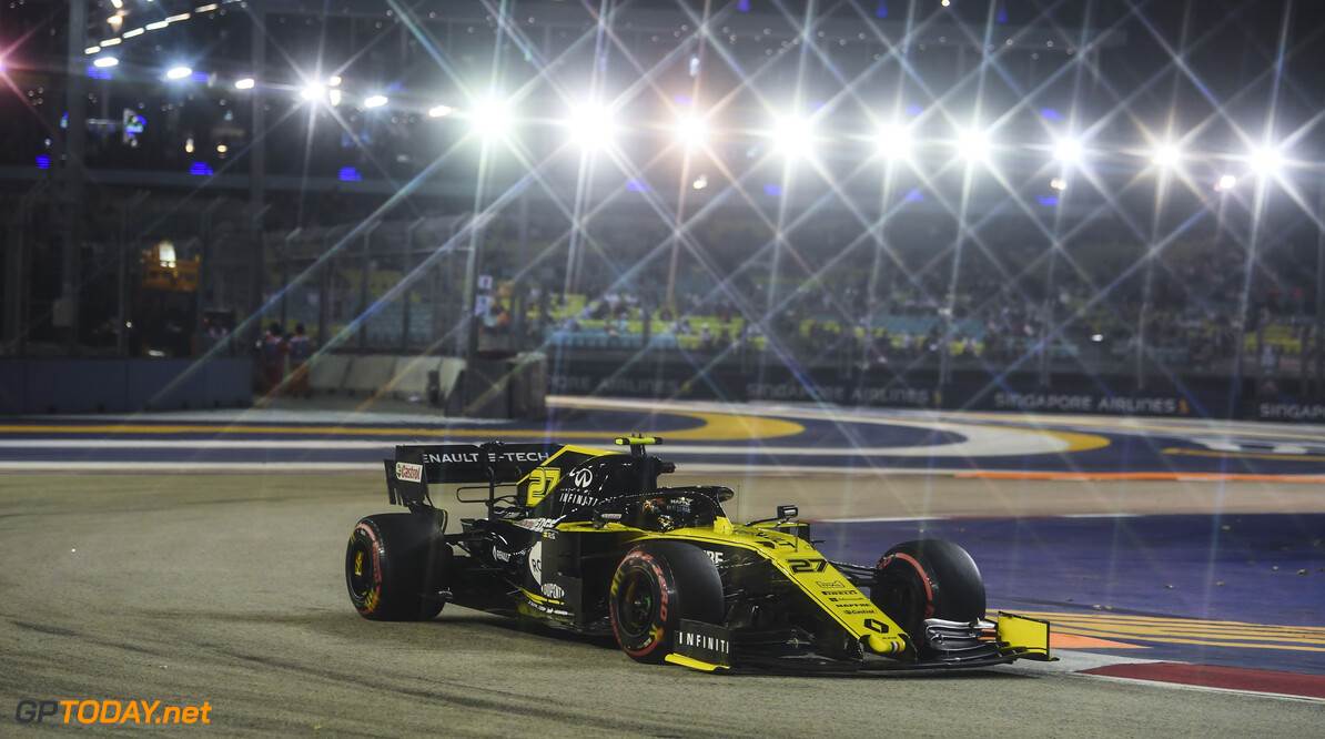 2019 Singapore GP SINGAPORE STREET CIRCUIT, SINGAPORE - SEPTEMBER 20: Nico Hulkenberg, Renault R.S. 19 during the Singapore GP at Singapore Street Circuit on September 20, 2019 in Singapore Street Circuit, Singapore. (Photo by Mark Sutton / Motorsport Images) 2019 Singapore GP Mark Sutton  Singapore  action