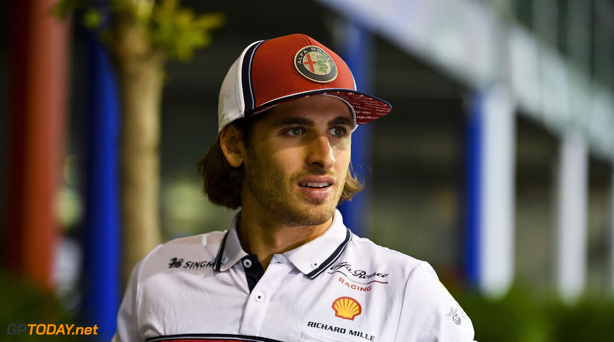 2019 Singapore GP SINGAPORE STREET CIRCUIT, SINGAPORE - SEPTEMBER 19: Antonio Giovinazzi, Alfa Romeo Racing during the Singapore GP at Singapore Street Circuit on September 19, 2019 in Singapore Street Circuit, Singapore. (Photo by Simon Galloway / Motorsport Images) 2019 Singapore GP Simon Galloway  Singapore  Portrait