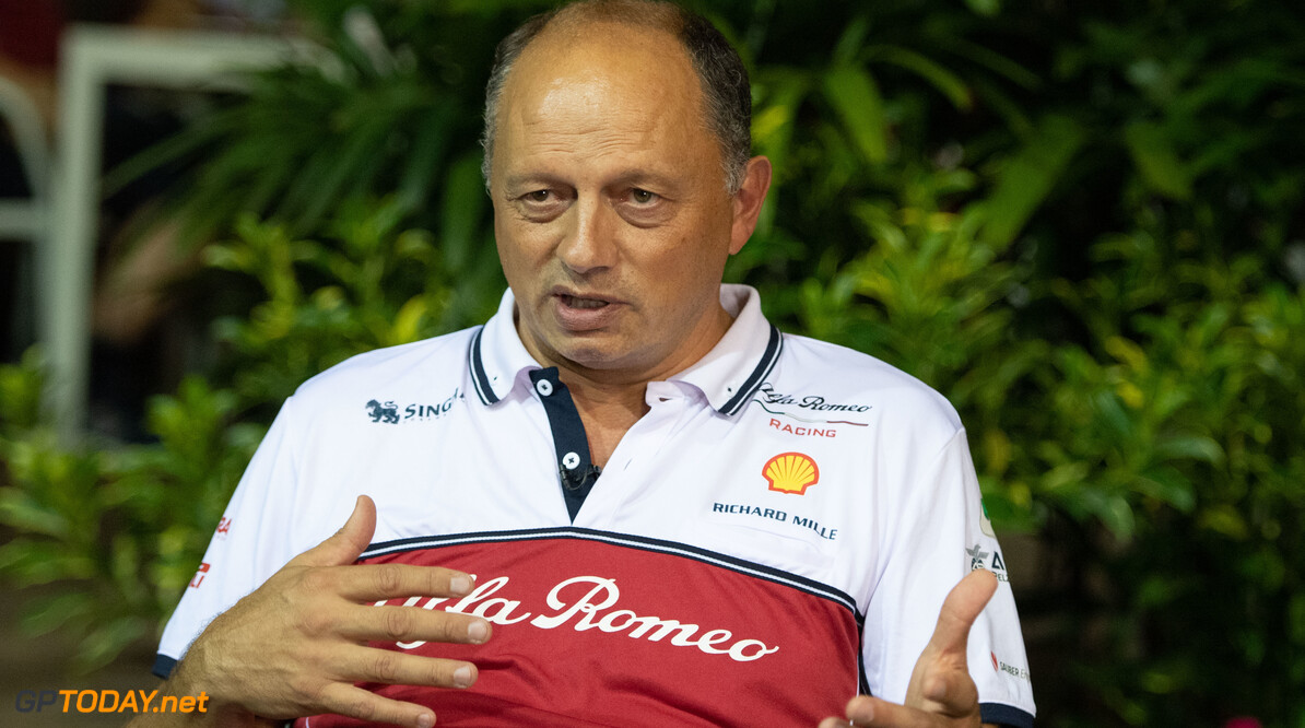 2019 Singapore GP SINGAPORE STREET CIRCUIT, SINGAPORE - SEPTEMBER 19: Frederic Vasseur, Team Principal, Alfa Romeo Racing during the Singapore GP at Singapore Street Circuit on September 19, 2019 in Singapore Street Circuit, Singapore. (Photo by Simon Galloway / Motorsport Images) 2019 Singapore GP Simon Galloway  Singapore  Portrait