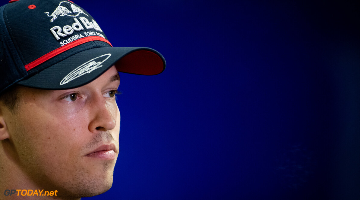 2019 Singapore GP SINGAPORE STREET CIRCUIT, SINGAPORE - SEPTEMBER 19: Daniil Kvyat, Toro Rosso during the Singapore GP at Singapore Street Circuit on September 19, 2019 in Singapore Street Circuit, Singapore. (Photo by Simon Galloway / Motorsport Images) 2019 Singapore GP Simon Galloway  Singapore  Portrait