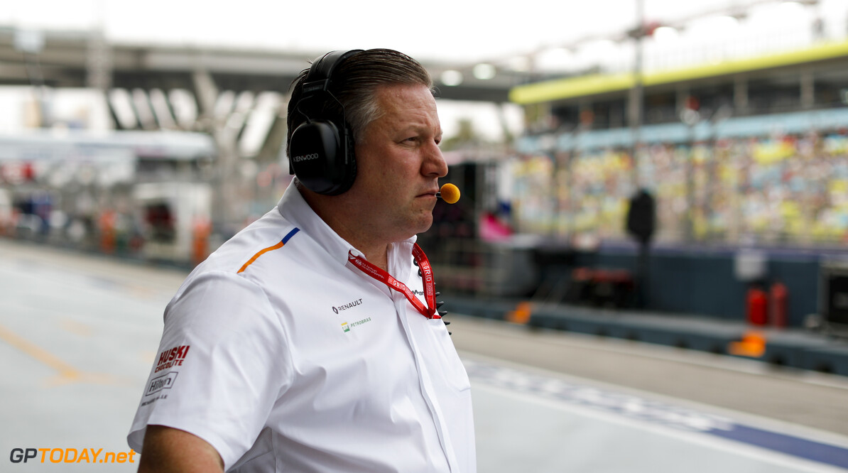 2019 Singapore GP SINGAPORE STREET CIRCUIT, SINGAPORE - SEPTEMBER 20: Zak Brown, Executive Director, McLaren during the Singapore GP at Singapore Street Circuit on September 20, 2019 in Singapore Street Circuit, Singapore. (Photo by Steven Tee / Motorsport Images) 2019 Singapore GP Steven Tee  Singapore  Portrait