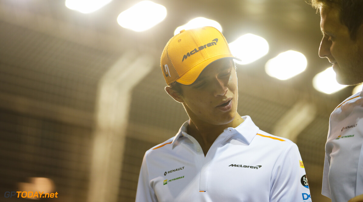 2019 Singapore GP SINGAPORE STREET CIRCUIT, SINGAPORE - SEPTEMBER 19: Lando Norris, McLaren walks the track during the Singapore GP at Singapore Street Circuit on September 19, 2019 in Singapore Street Circuit, Singapore. (Photo by Joe Portlock / Motorsport Images) 2019 Singapore GP Joe Portlock  Singapore  Portrait