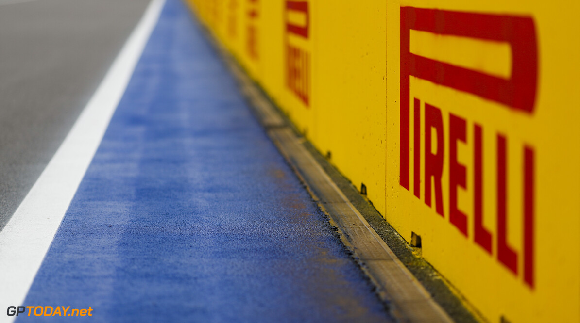 2019 Russian GP SOCHI AUTODROM, RUSSIAN FEDERATION - SEPTEMBER 26: Pirelli branding around the circuit during the Russian GP at Sochi Autodrom on September 26, 2019 in Sochi Autodrom, Russian Federation. (Photo by Zak Mauger / LAT Images) 2019 Russian GP Zak Mauger  Russian Federation  circuit detail