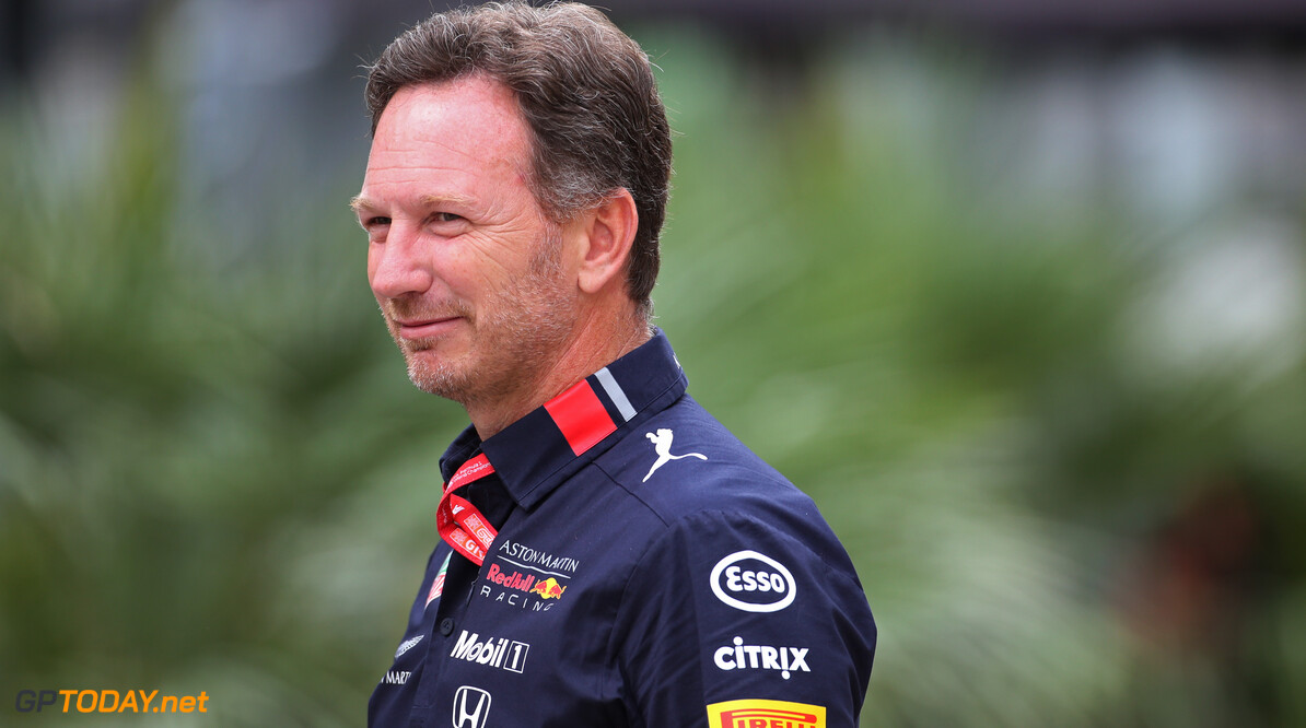 Formula One World Championship Christian Horner (GBR), Red Bull Racing Team Principal   28.09.2019. Formula 1 World Championship, Rd 16, Russian Grand Prix, Sochi Autodrom, Sochi, Russia, Qualifying Day. - www.xpbimages.com, EMail: requests@xpbimages.com - copy of publication required for printed pictures. Every used picture is fee-liable. (C) Copyright: Charniaux / XPB Images Motor Racing - Formula One World Championship - Russian Grand Prix - Qualifying Day - Sochi, Russia XPB Images Sochi Russia  Formel1 Formel F1 Formula 1 Formula1 GP Grand Prix one Russia Russian Sochi Sochi Autodrom Sochi Autodrome Autodrome Autodrom Saturday September 28 09 9 2019 Portrait