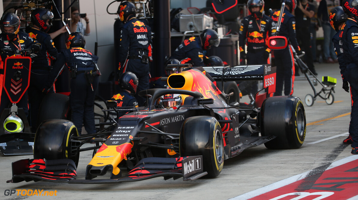 Formula One World Championship Max Verstappen (NLD) Red Bull Racing RB15 pit stop. 29.09.2019. Formula 1 World Championship, Rd 16, Russian Grand Prix, Sochi Autodrom, Sochi, Russia, Race Day. - www.xpbimages.com, EMail: requests@xpbimages.com - copy of publication required for printed pictures. Every used picture is fee-liable. (C) Copyright: Batchelor / XPB Images Motor Racing - Formula One World Championship - Russian Grand Prix - Race Day - Sochi, Russia XPB Images Sochi Russia  Formel1 Formel F1 Formula 1 Formula1 GP Grand Prix one Russia Russian Sochi Sochi Autodrom Sochi Autodrome Autodrome Autodrom Sunday September 29 09 9 2019 Race Action Track