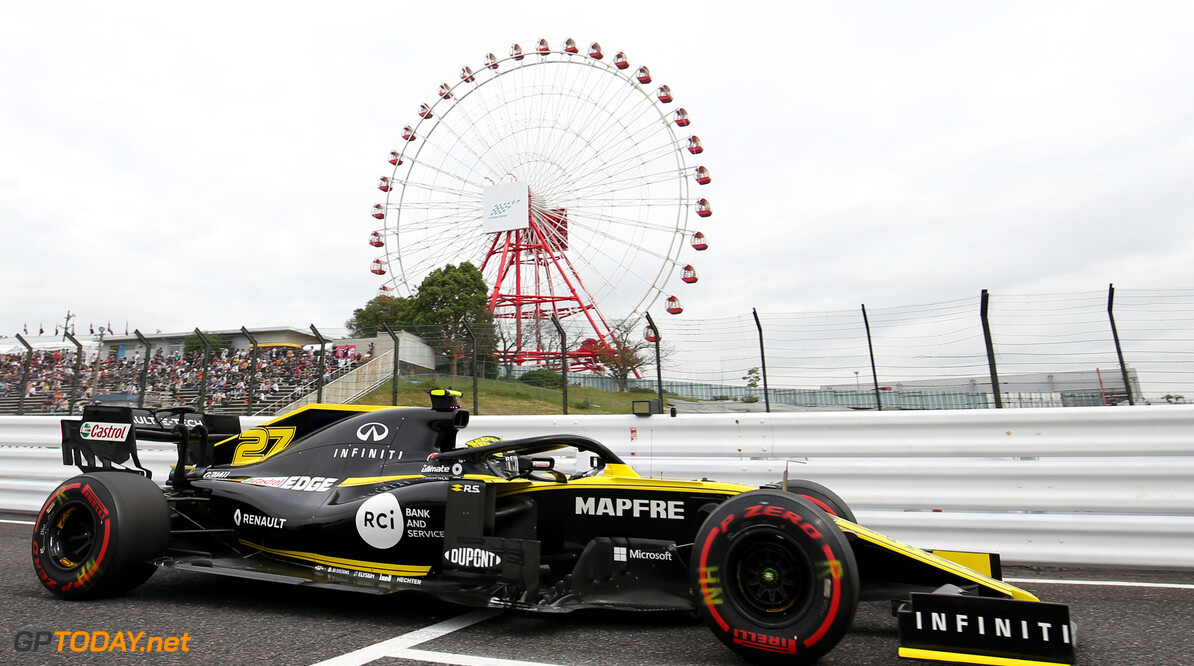 Formula One World Championship Nico Hulkenberg (GER), Renault Sport F1 Team  11.10.2019. Formula 1 World Championship, Rd 17, Japanese Grand Prix, Suzuka, Japan, Practice Day. - www.xpbimages.com, EMail: requests@xpbimages.com - copy of publication required for printed pictures. Every used picture is fee-liable. (C) Copyright: Charniaux / XPB Images Motor Racing - Formula One World Championship - Japanese Grand Prix - Practice Day - Suzuka, Japan XPB Images Suzuka Japan  Formel1 Formel F1 Formula 1 Formula1 GP Grand Prix one Suzuka Circuit Japan Japanese Friday October 11 10 2019 Action Track