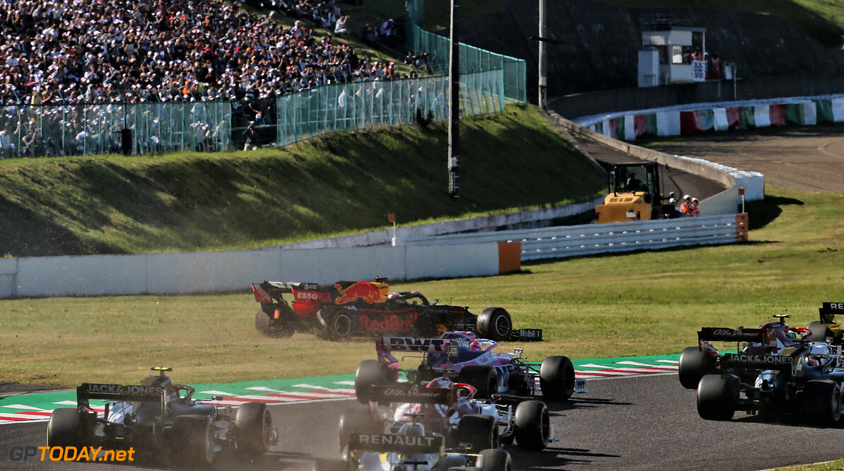 <b>Video:</b> Leclerc and Verstappen clash on lap one
