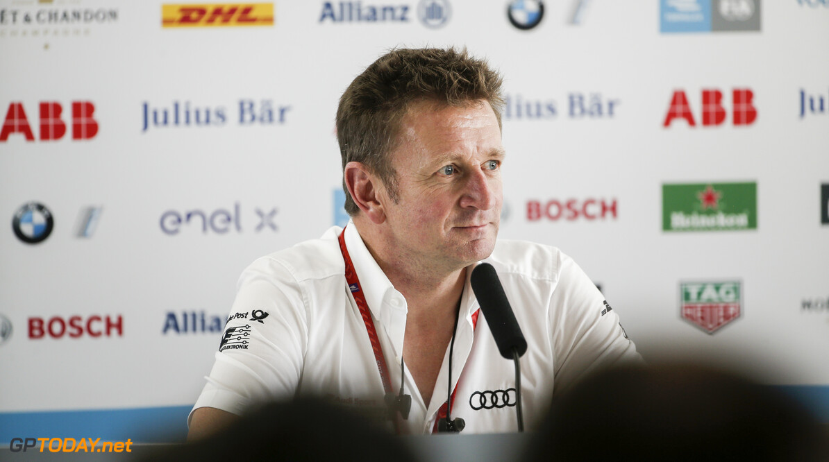 2020 Pre-Season Testing VALENCIA CIRCUIT RICARDO TORMO, SPAIN - OCTOBER 15: Allan McNish, Team Principal, Audi Sport Abt Schaeffler in the press conference during the Pre-Season Testing at Valencia Circuit Ricardo Tormo on October 15, 2019 in Valencia Circuit Ricardo Tormo, Spain. (Photo by Joe Portlock / LAT Images) 2020 Pre-Season Testing Joe Portlock  Spain