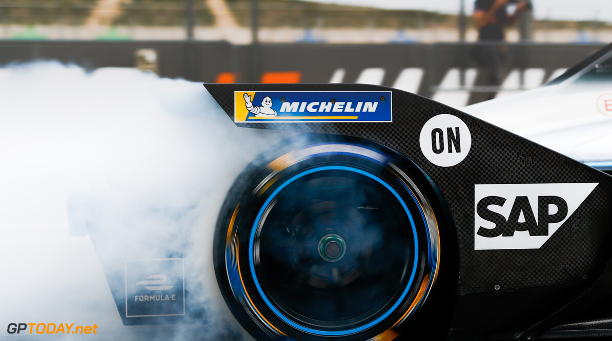Rear tyre of Nyck De Vries (NLD), Mercedes Benz EQ, EQ Silver Arrow 01  Sam Bloxham    action