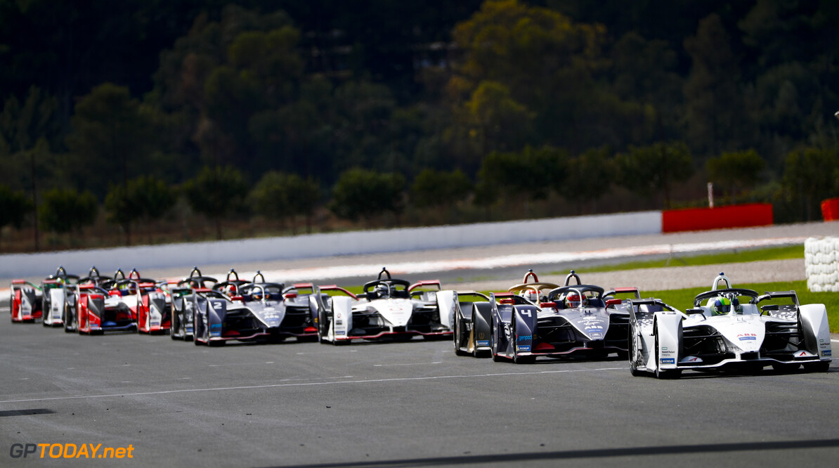 Felipe Massa (BRA), Venturi, EQ Silver Arrow 01, Robin Frijns (NLD), Envision Virgin Racing, Audi e-tron FE06 and Jean-Eric Vergne (FRA), DS Techeetah, DS E-Tense FE20   Sam Bloxham    action