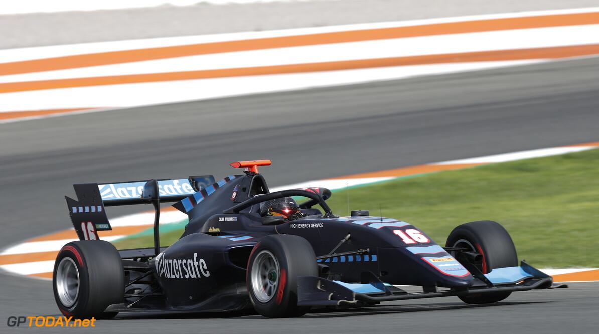 FIA Formula 3 OCTOBER 20: Calan Williams, (AUS, Jenzer Motorsport) during the Valencia Test on October 20, 2019. (Photo by Joe Portlock) FIA Formula 3 Joe Portlock    FIA Formula 3 F3 Formula 3 FIA F3