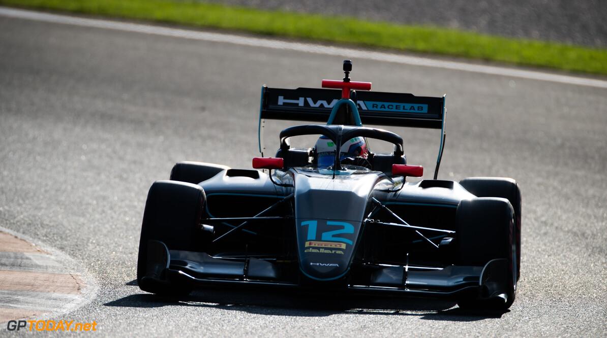 FIA Formula 3 OCTOBER 21: Simo Laaksonen (FIN, HWA RACELAB) during the Valencia Test on October 21, 2019. (Photo by Joe Portlock) FIA Formula 3 Joe Portlock    FIA Formula 3 F3 Formula 3 FIA F3