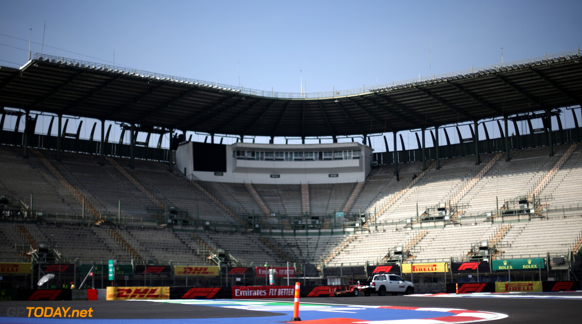 Formula One World Championship Track Atmosphere  24.10.2019. Formula 1 World Championship, Rd 18, Mexican Grand Prix, Mexico City, Mexico, Preparation Day. - www.xpbimages.com, EMail: requests@xpbimages.com (C) Copyright: Charniaux / XPB Images Motor Racing - Formula One World Championship - Mexican Grand Prix - Preparation Day - Mexico City, Mexico XPB Images Mexico City Mexico  Formel1 Formel F1 Formula 1 Formula1 GP Grand Prix Thursday Portrait October Mexico Mexico City Mexican Autodromo Hermanos 24 10 2019