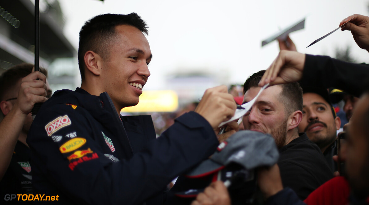 Formula One World Championship Alexander Albon (THA), Red Bull Racing  24.10.2019. Formula 1 World Championship, Rd 18, Mexican Grand Prix, Mexico City, Mexico, Preparation Day. - www.xpbimages.com, EMail: requests@xpbimages.com (C) Copyright: Charniaux / XPB Images Motor Racing - Formula One World Championship - Mexican Grand Prix - Preparation Day - Mexico City, Mexico XPB Images Mexico City Mexico  Formel1 Formel F1 Formula 1 Formula1 GP Grand Prix Thursday Portrait October Mexico Mexico City Mexican Autodromo Hermanos 24 10 2019