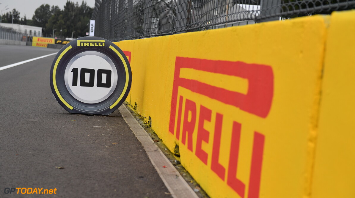 2019 Mexican GP MEXICO CITY - OCTOBER 24: Track detail with Pirelli boards during the 2019 Formula One Mexican Grand Prix at Autodromo Hermanos Rodriguez, on October 24, 2019 in Mexico City, Mexico. (Photo by Simon Galloway / LAT Images) 2019 Mexican GP Simon Galloway  Mexico  atmosphere detail