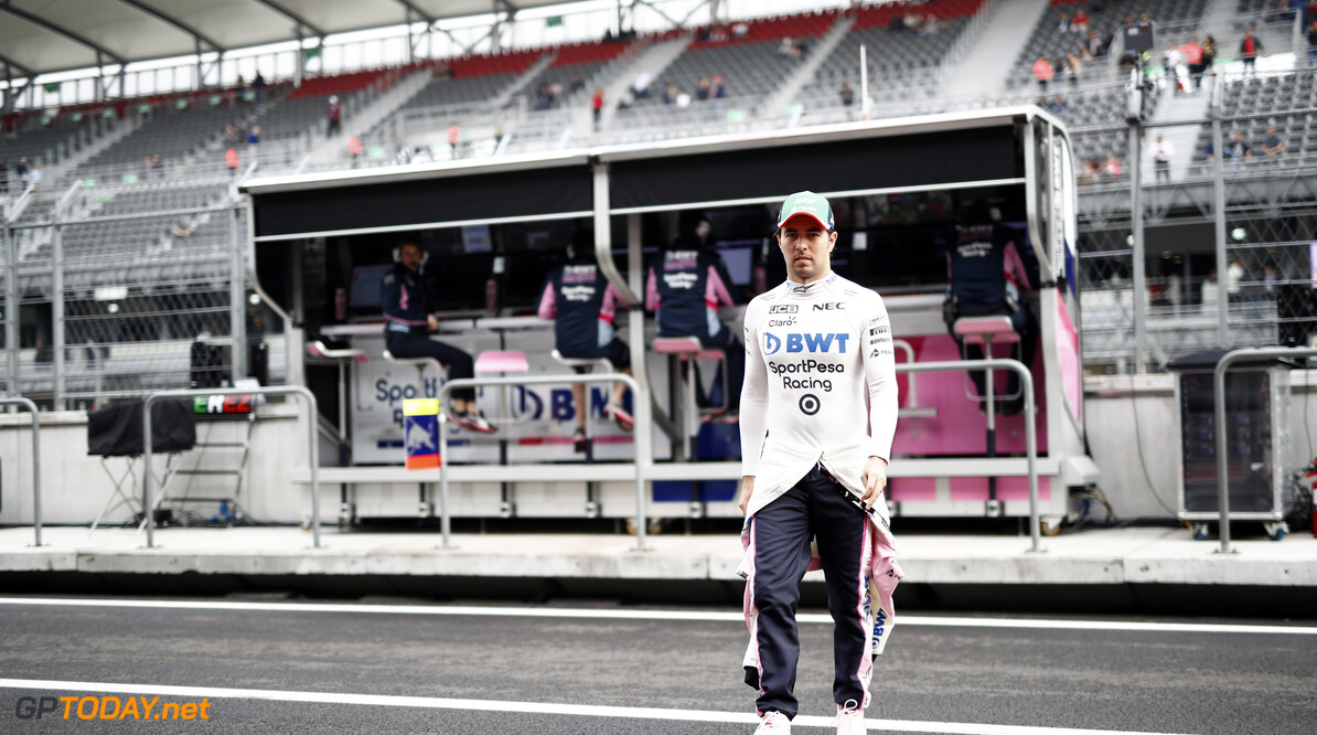 Sergio Perez, Racing Point RP19 on the pit lane  Glenn Dunbar    practice FP1 GP19018b GP19018b_M F1 GP Mexico Mexican Autodromo-Hermanos-Rodriguez