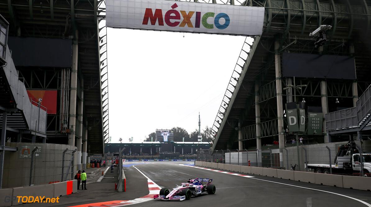 Sergio Perez, Racing Point RP19 during FP1  Andy Hone    FP1 practice GP19018b GP19018b_M F1 GP Mexico Mexican Autodromo-Hermanos-Rodriguez