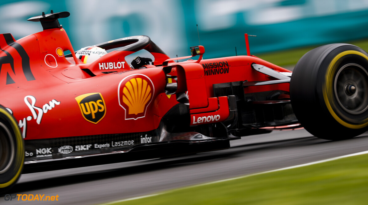 2019 Mexican GP MEXICO CITY - OCTOBER 25: Sebastian Vettel, Ferrari SF90 during the 2019 Formula One Mexican Grand Prix at Autodromo Hermanos Rodriguez, on October 25, 2019 in Mexico City, Mexico. (Photo by Glenn Dunbar / LAT Images) 2019 Mexican GP Glenn Dunbar  Mexico  action blur ts-live