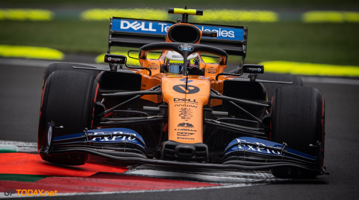 Lando Norris, McLaren MCL34   Steven Tee    action front on car on turn