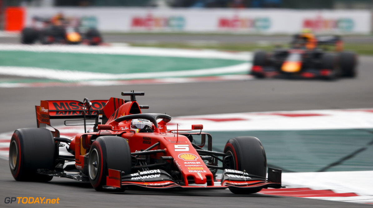 2019 Mexican GP MEXICO CITY - OCTOBER 26: Sebastian Vettel, Ferrari SF90 during the 2019 Formula One Mexican Grand Prix at Autodromo Hermanos Rodriguez, on October 26, 2019 in Mexico City, Mexico. (Photo by Joe Portlock / LAT Images) 2019 Mexican GP Joe Portlock  Mexico  action ts-live