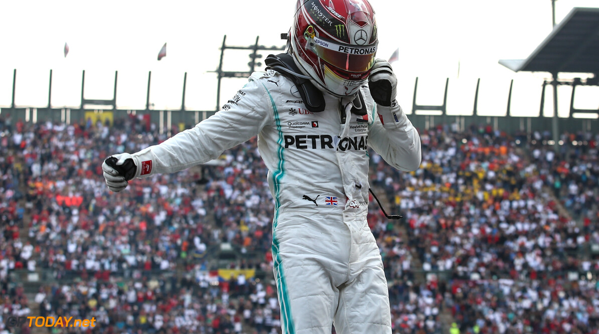 Formula One World Championship Lewis Hamilton (GBR), Mercedes AMG F1   27.10.2019. Formula 1 World Championship, Rd 18, Mexican Grand Prix, Mexico City, Mexico, Race Day. - www.xpbimages.com, EMail: requests@xpbimages.com (C) Copyright: Charniaux / XPB Images Motor Racing - Formula One World Championship - Mexican Grand Prix - Race Day - Mexico City, Mexico XPB Images Mexico City Mexico  Formel1 Formel F1 Formula 1 Formula1 GP Grand Prix Mexico Mexico City Mexican Autodromo Hermanos Sunday October 27 10 2019 Podium Portrait