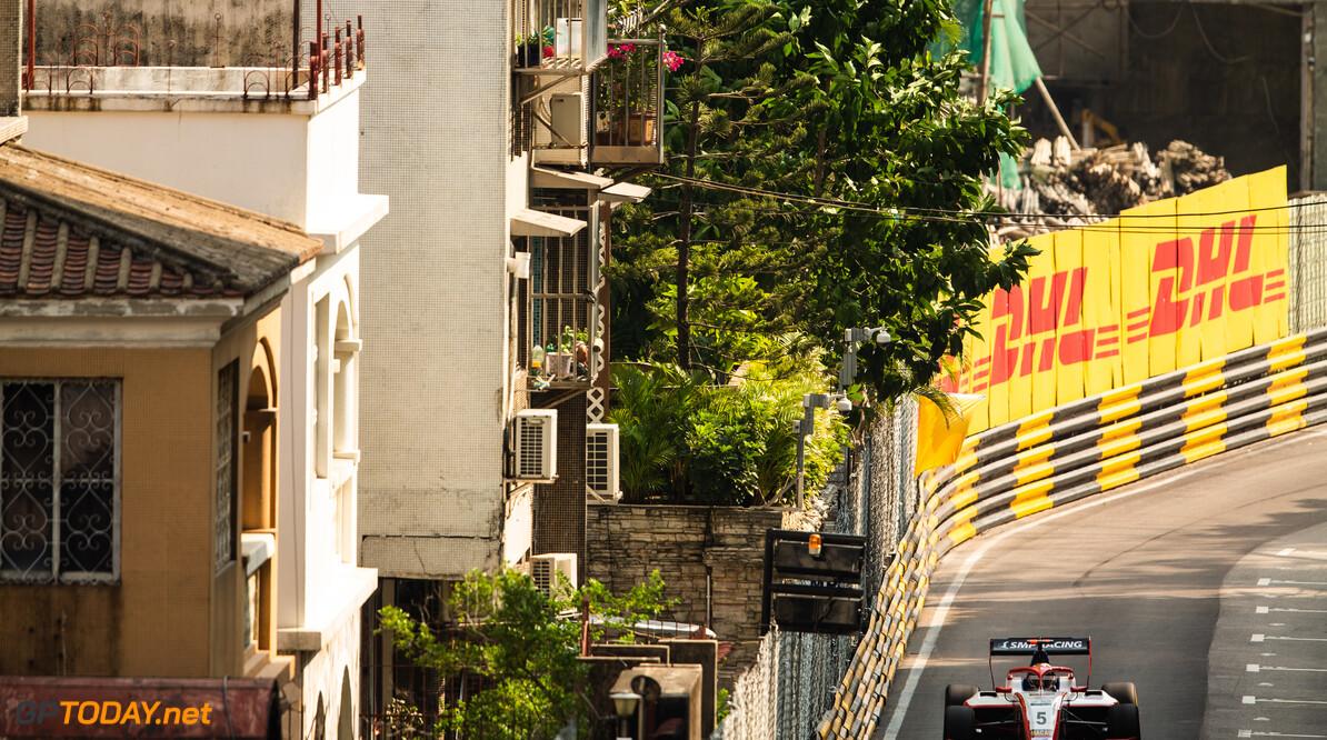 FIA Formula 3 CIRCUITO DA GUIA, MACAU - NOVEMBER 14: Robert SHWARTZMAN (RUS, SJM Prema Theodore Racing) during the Macau GP at Circuito da Guia on November 14, 2019 in Circuito da Guia, Macau. (Photo by Joe Portlock) FIA Formula 3 Joe Portlock  Macau  FIA Formula 3