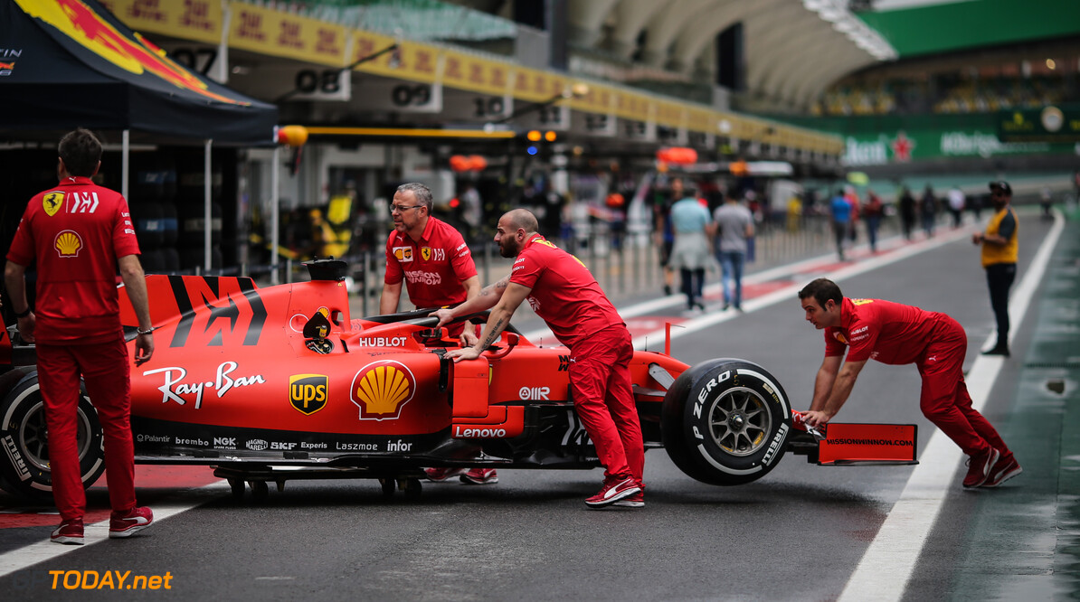 Formula One World Championship Scuderia Ferrari   14.11.2019. Formula 1 World Championship, Rd 20, Brazilian Grand Prix, Sao Paulo, Brazil, Preparation Day. - www.xpbimages.com, EMail: requests@xpbimages.com (C) Copyright: Charniaux / XPB Images Motor Racing - Formula One World Championship - Brazilian Grand Prix - Preparation Day - Sao Paulo, Brazil XPB Images Sao Paulo Brazil  Formel1 Formel F1 Formula 1 Formula1 GP Grand Prix one Thursday November Portrait Brazil Brasil Brazilian Brasilian Sao Paulo Interlagos Autodromo 14 11 2019