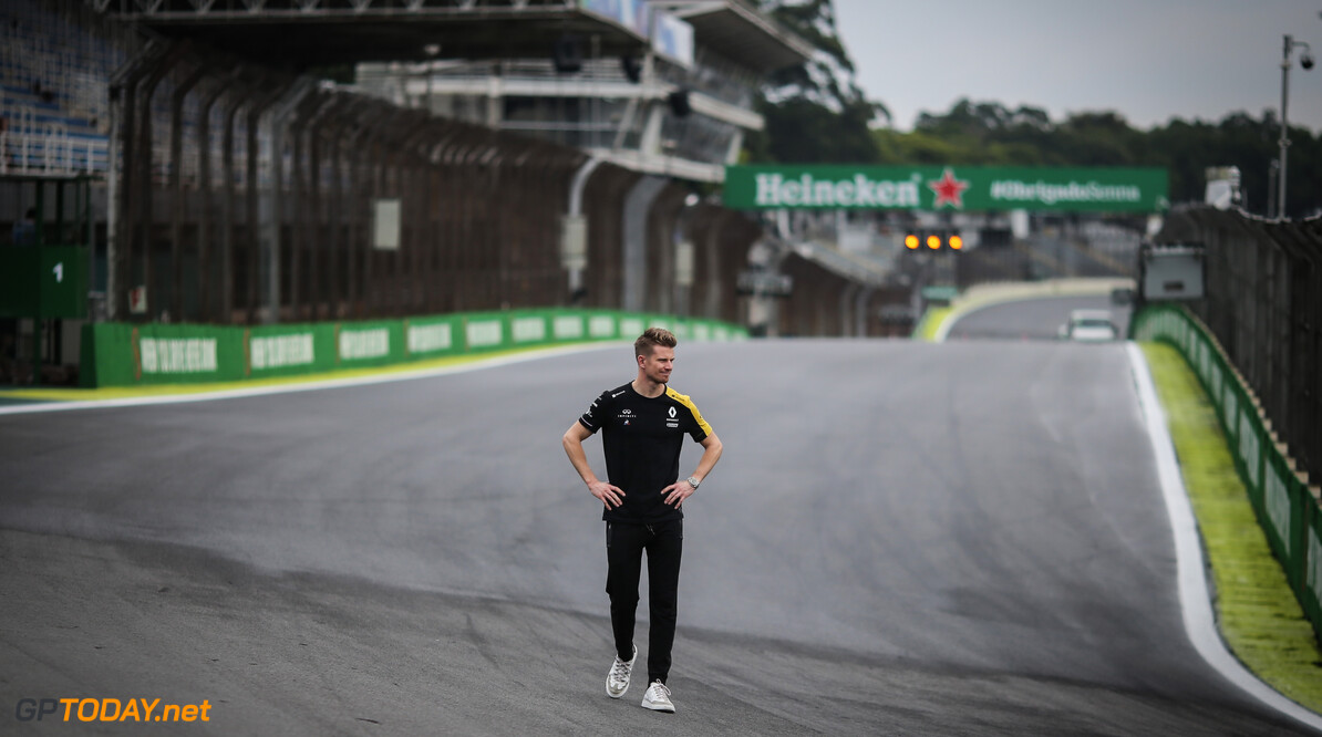 Formula One World Championship Nico Hulkenberg (GER), Renault Sport F1 Team  14.11.2019. Formula 1 World Championship, Rd 20, Brazilian Grand Prix, Sao Paulo, Brazil, Preparation Day. - www.xpbimages.com, EMail: requests@xpbimages.com (C) Copyright: Charniaux / XPB Images Motor Racing - Formula One World Championship - Brazilian Grand Prix - Preparation Day - Sao Paulo, Brazil XPB Images Sao Paulo Brazil  Formel1 Formel F1 Formula 1 Formula1 GP Grand Prix one Thursday November Portrait Brazil Brasil Brazilian Brasilian Sao Paulo Interlagos Autodromo 14 11 2019