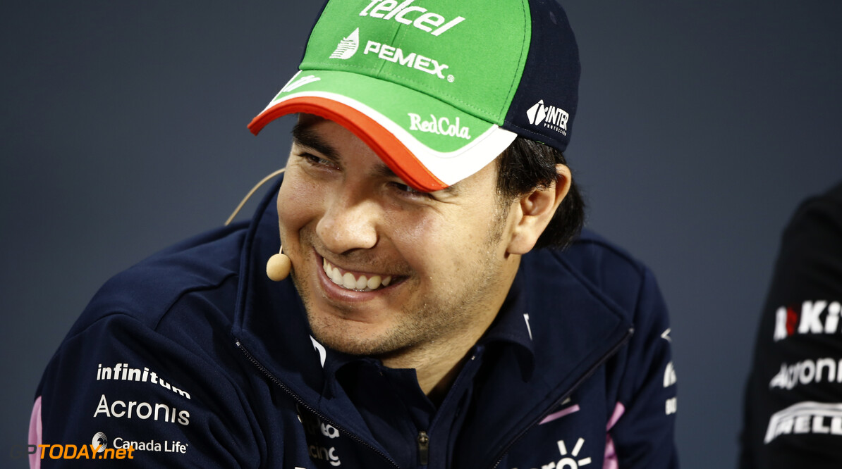 Sergio Perez, Racing Point attends the drivers press conference  Andy Hone    Sergio Perez FIA Press Conference Media GP19020a GP19020a_M F1 GP Brazil Brazilian Sao-Paulo Interlagos