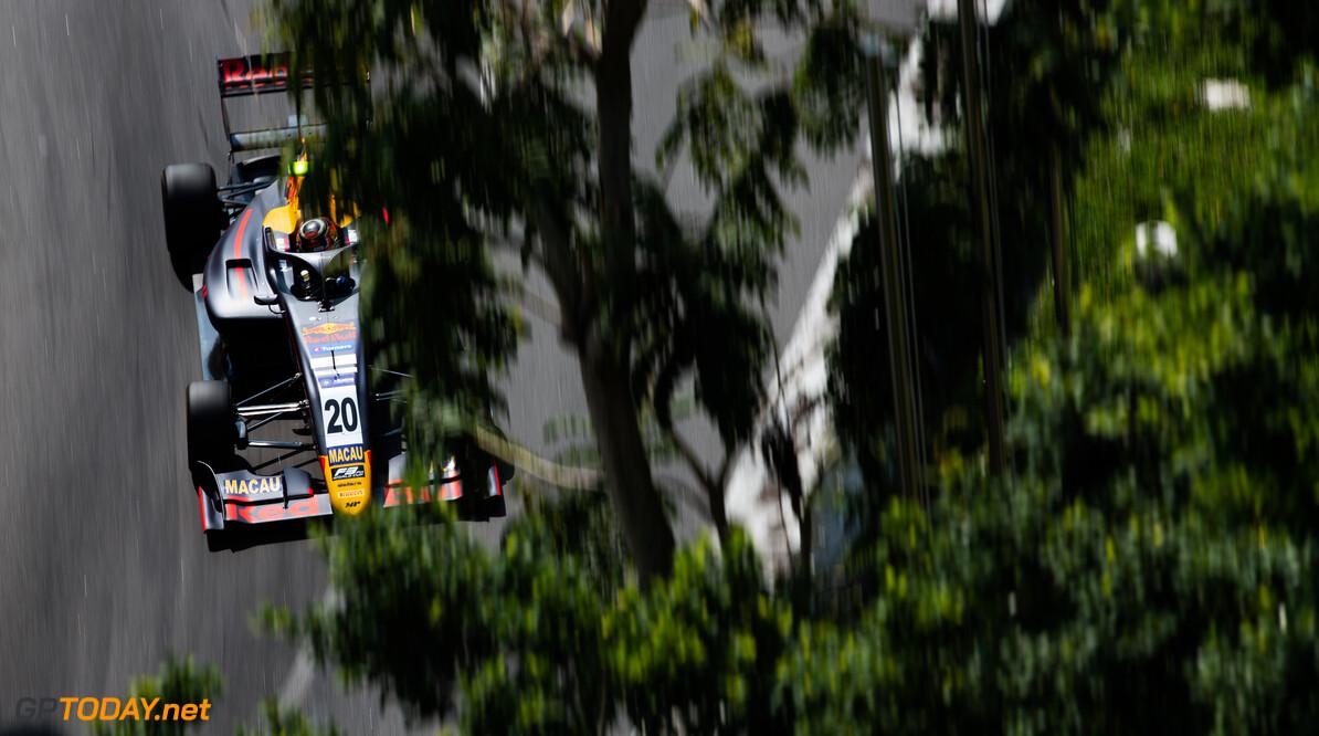 FIA Formula 3 CIRCUITO DA GUIA, MACAU - NOVEMBER 15: Liam LAWSON (NZL, MP MOTORSPORT) during the Macau GP at Circuito da Guia on November 15, 2019 in Circuito da Guia, Macau. (Photo by Joe Portlock) FIA Formula 3 Joe Portlock  Macau  FIA Formula 3