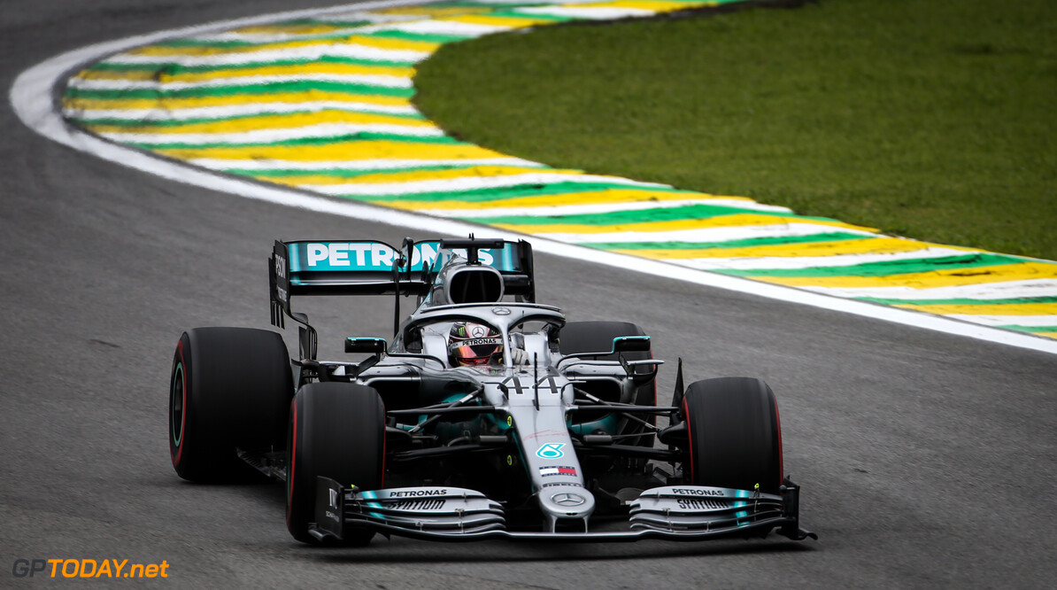 Formula One World Championship Lewis Hamilton (GBR), Mercedes AMG F1   15.11.2019. Formula 1 World Championship, Rd 20, Brazilian Grand Prix, Sao Paulo, Brazil, Practice Day. - www.xpbimages.com, EMail: requests@xpbimages.com (C) Copyright: Charniaux / XPB Images Motor Racing - Formula One World Championship - Brazilian Grand Prix - Practice Day - Sao Paulo, Brazil XPB Images Sao Paulo Brazil  Formel1 Formel F1 Formula 1 Formula1 GP Grand Prix one November Brazil Brasil Brazilian Brasilian Sao Paulo Interlagos Autodromo Friday 15 11 2019 Action Track