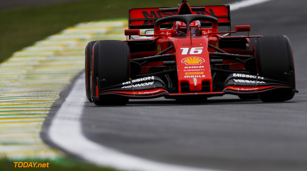 2019 Brazilian GP SAO PAULO, BRAZIL - NOVEMBER 15: Charles Leclerc, Ferrari SF90 during the 2019 Formula One Brazilian Grand Prix at Aut?dromo Jos? Carlos Pace, on November 15, 2019 in Sao Paulo, Brazil. (Photo by Zak Mauger / LAT Images) 2019 Brazilian GP Zak Mauger  Brazil  action ts-live