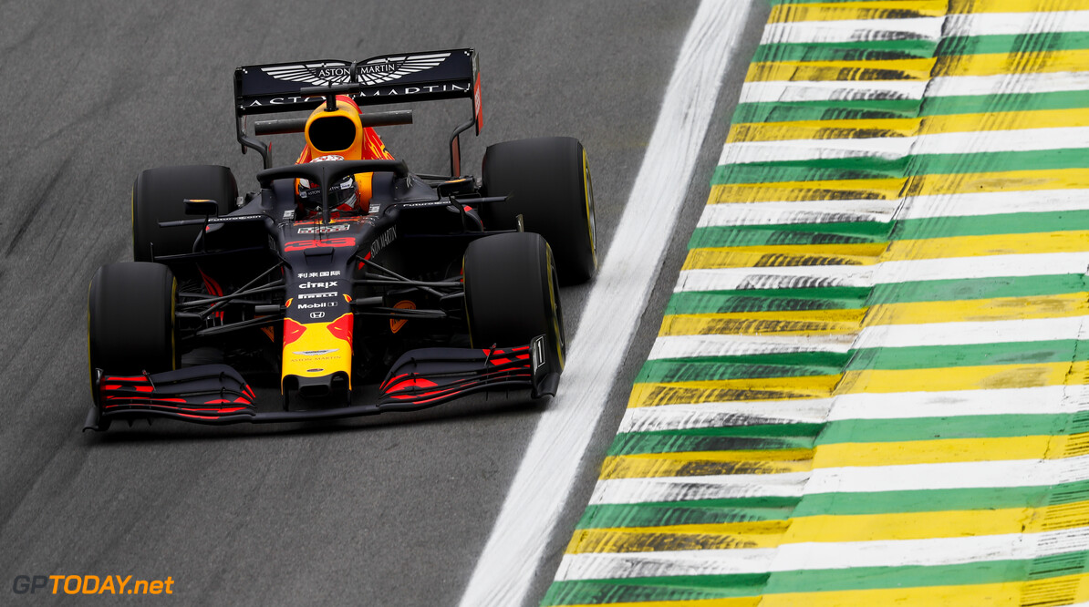 2019 Brazilian GP SAO PAULO, BRAZIL - NOVEMBER 15: Max Verstappen, Red Bull Racing RB15 during the 2019 Formula One Brazilian Grand Prix at Aut?dromo Jos? Carlos Pace, on November 15, 2019 in Sao Paulo, Brazil. (Photo by Glenn Dunbar / LAT Images) 2019 Brazilian GP Glenn Dunbar  Brazil  action ts-live