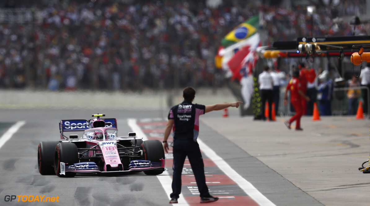 Lance Stroll, Racing Point RP19   Glenn Dunbar    qualifying action GP19020c GP19020c_M F1 GP Brazil Brazilian Sao-Paulo Interlagos