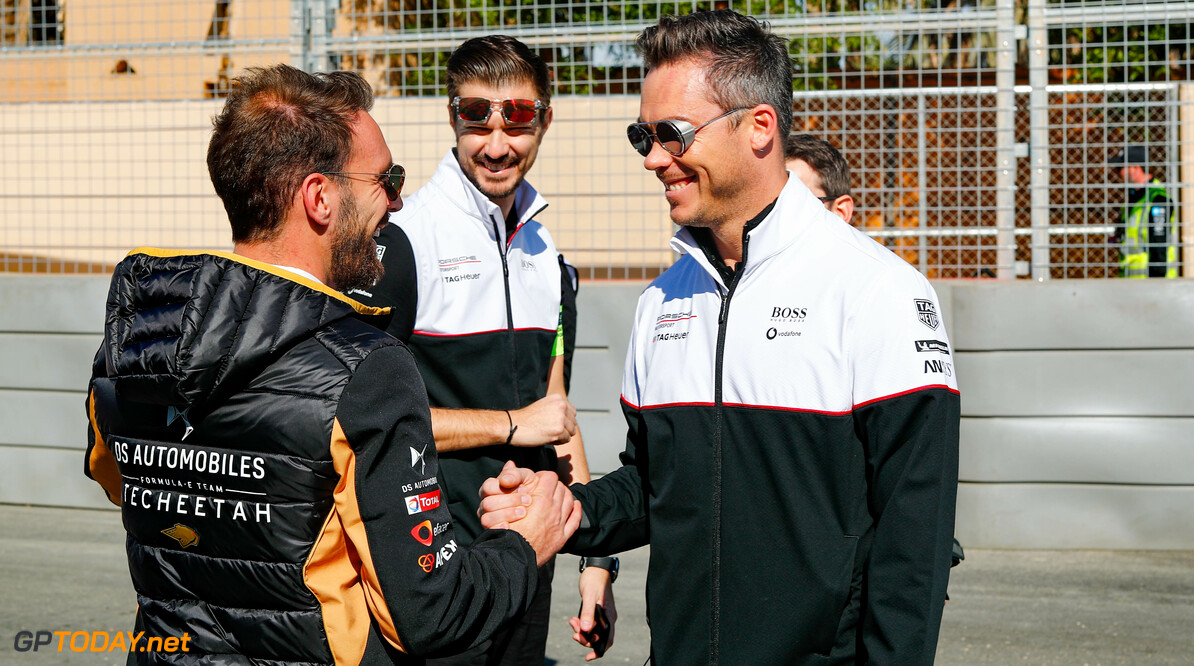 Jean-Eric Vergne (FRA), DS Techeetah, DS E-Tense FE20 and Andre Lotterer (DEU), Tag Heuer Porsche, Porsche 99x Electric   Sam Bloxham    portrait trackwalk