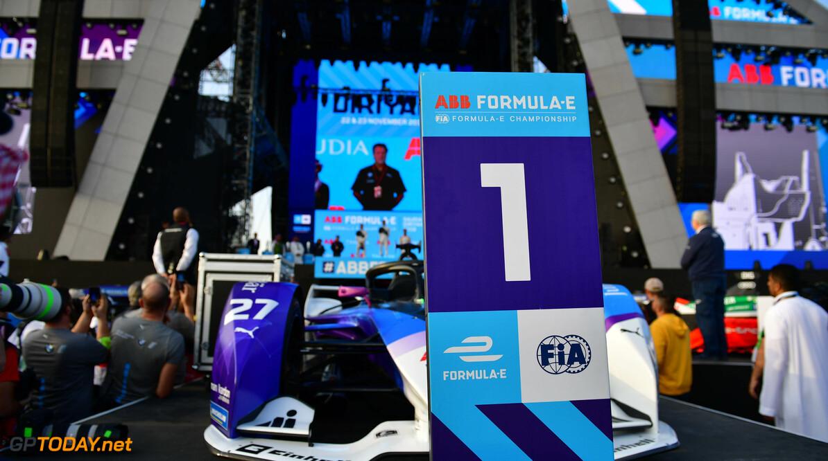 Alexander Sims (GBR) BMW I Andretti Motorsports, celebrates in Parc Ferme  Simon Galloway    podium