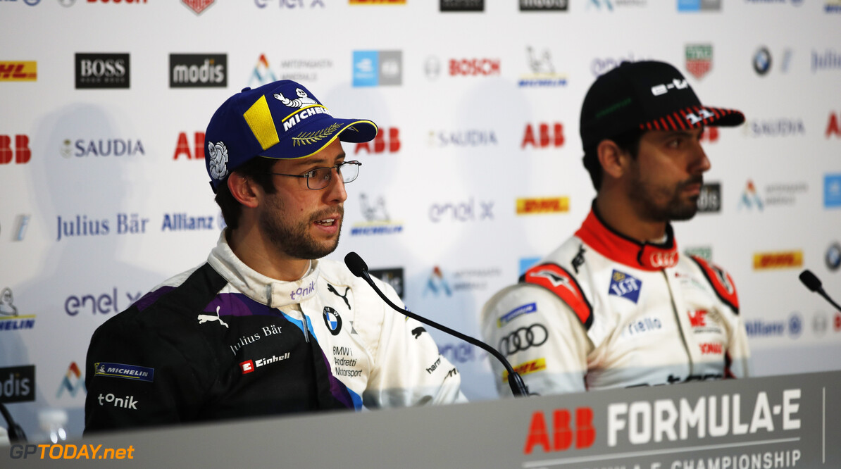 Alexander Sims (GBR) BMW I Andretti Motorsports, and Lucas Di Grassi (BRA), Audi Sport ABT Schaeffler, in the press conference  Joe Portlock    conf portrait