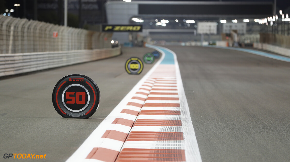2019 Abu Dhabi GP YAS MARINA CIRCUIT, UNITED ARAB EMIRATES - NOVEMBER 28: Pirelli Branding around the track during the Abu Dhabi GP at Yas Marina Circuit on November 28, 2019 in Yas Marina Circuit, United Arab Emirates. (Photo by Zak Mauger / LAT Images) 2019 Abu Dhabi GP Zak Mauger  United Arab Emirates