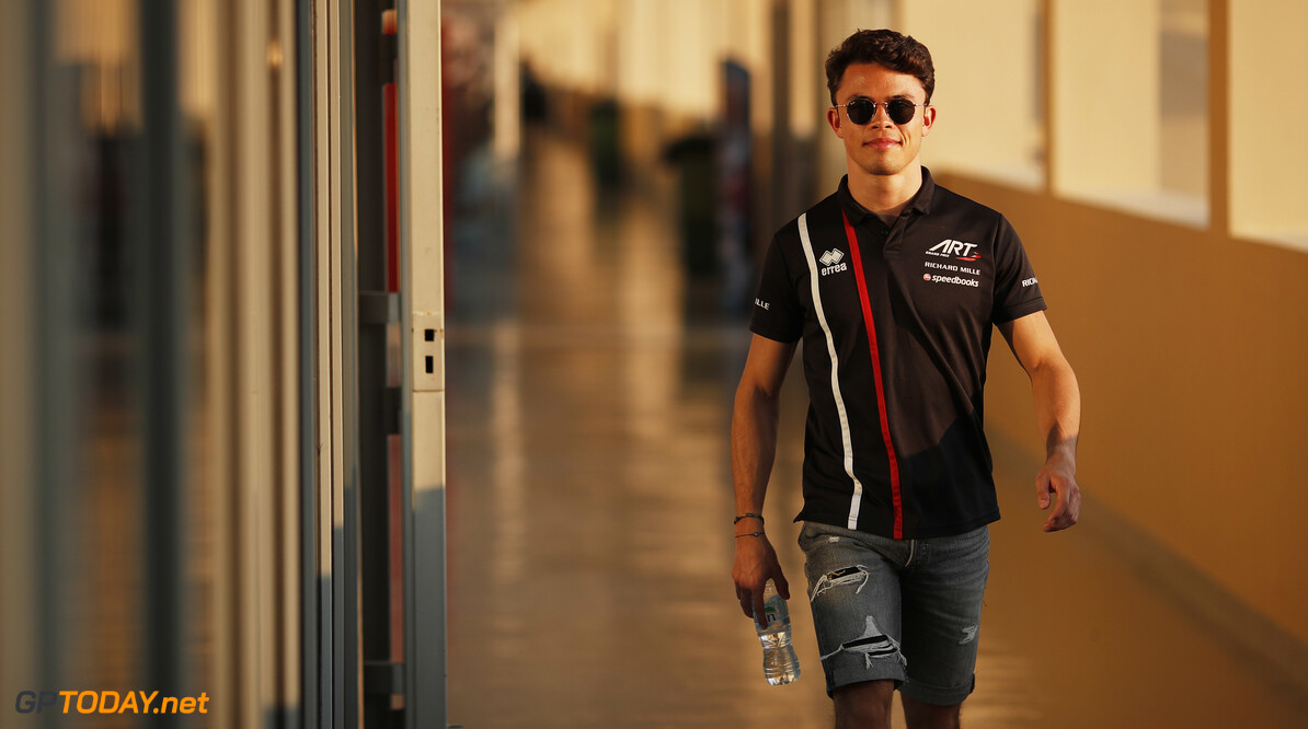 FIA Formula 2 YAS MARINA CIRCUIT, UNITED ARAB EMIRATES - NOVEMBER 28: Nyck De Vries (NLD, ART GRAND PRIX) during the Abu Dhabi at Yas Marina Circuit on November 28, 2019 in Yas Marina Circuit, United Arab Emirates. (Photo by Joe Portlock) FIA Formula 2 Joe Portlock  United Arab Emirates  FIA Formula 2