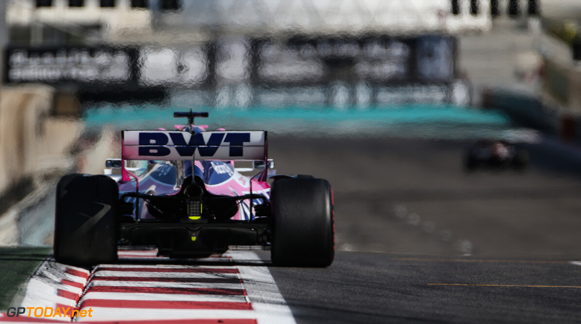Formula One World Championship Lance Stroll (CDN), Racing Point  29.11.2019. Formula 1 World Championship, Rd 21, Abu Dhabi Grand Prix, Yas Marina Circuit, Abu Dhabi, Practice Day. - www.xpbimages.com, EMail: requests@xpbimages.com (C) Copyright: Charniaux / XPB Images Motor Racing - Formula One World Championship - Abu Dhabi Grand Prix - Practice Day - Abu Dhabi, UAE XPB Images Abu Dhabi Abu Dhabi  Formel1 Formel F1 Formula 1 Formula1 GP Grand Prix one November Abu Dhabi Yas Marina Circuit Yas Marina UAE United Arab Emirates Friday 29 11 2019 Action Track