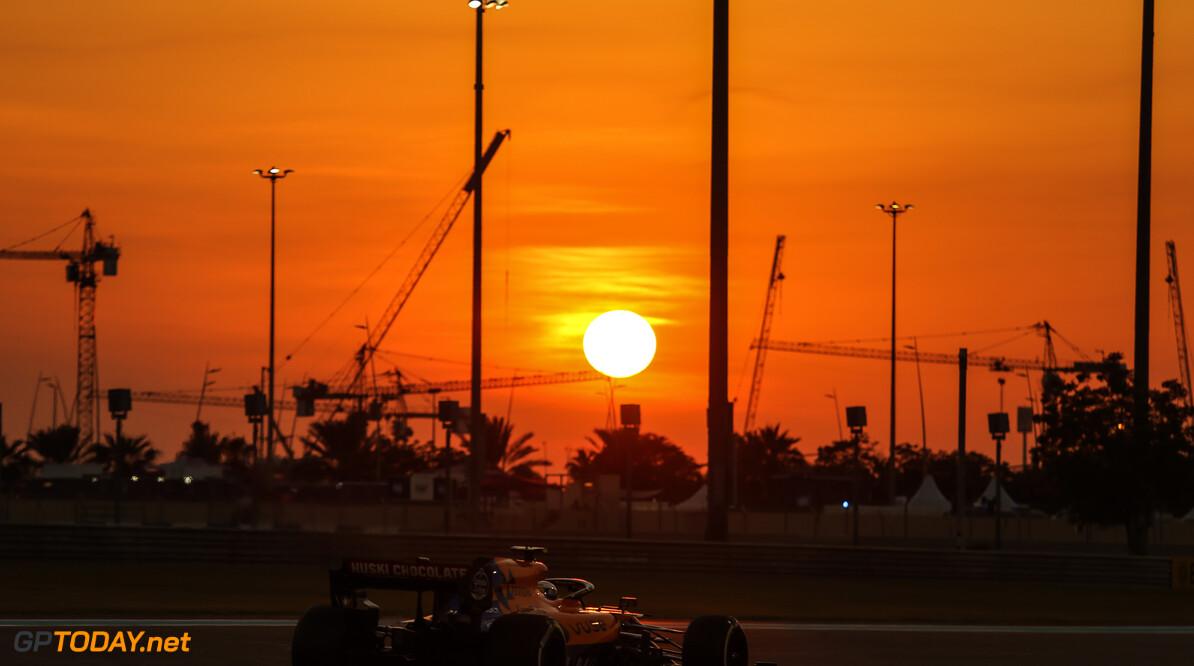 Formula One World Championship Lando Norris (GBR), McLaren F1 Team  29.11.2019. Formula 1 World Championship, Rd 21, Abu Dhabi Grand Prix, Yas Marina Circuit, Abu Dhabi, Practice Day. - www.xpbimages.com, EMail: requests@xpbimages.com (C) Copyright: Charniaux / XPB Images Motor Racing - Formula One World Championship - Abu Dhabi Grand Prix - Practice Day - Abu Dhabi, UAE XPB Images Abu Dhabi Abu Dhabi  Formel1 Formel F1 Formula 1 Formula1 GP Grand Prix one November Abu Dhabi Yas Marina Circuit Yas Marina UAE United Arab Emirates Friday 29 11 2019 Action Track