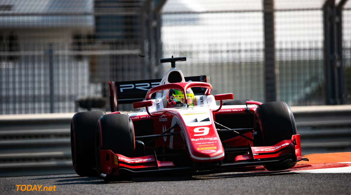 FIA Formula 2 YAS MARINA CIRCUIT, UNITED ARAB EMIRATES - NOVEMBER 29: Mick Schumacher (DEU, PREMA RACING) during the Abu Dhabi at Yas Marina Circuit on November 29, 2019 in Yas Marina Circuit, United Arab Emirates. (Photo by Joe Portlock) FIA Formula 2 Joe Portlock  United Arab Emirates  FIA Formula 2