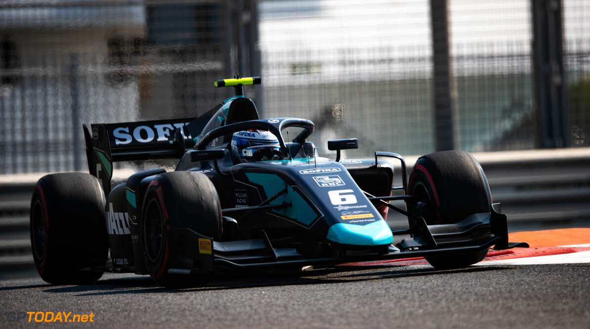 FIA Formula 2 YAS MARINA CIRCUIT, UNITED ARAB EMIRATES - NOVEMBER 29: Nicholas Latifi (CAN, DAMS) during the Abu Dhabi at Yas Marina Circuit on November 29, 2019 in Yas Marina Circuit, United Arab Emirates. (Photo by Joe Portlock) FIA Formula 2 Joe Portlock  United Arab Emirates  FIA Formula 2