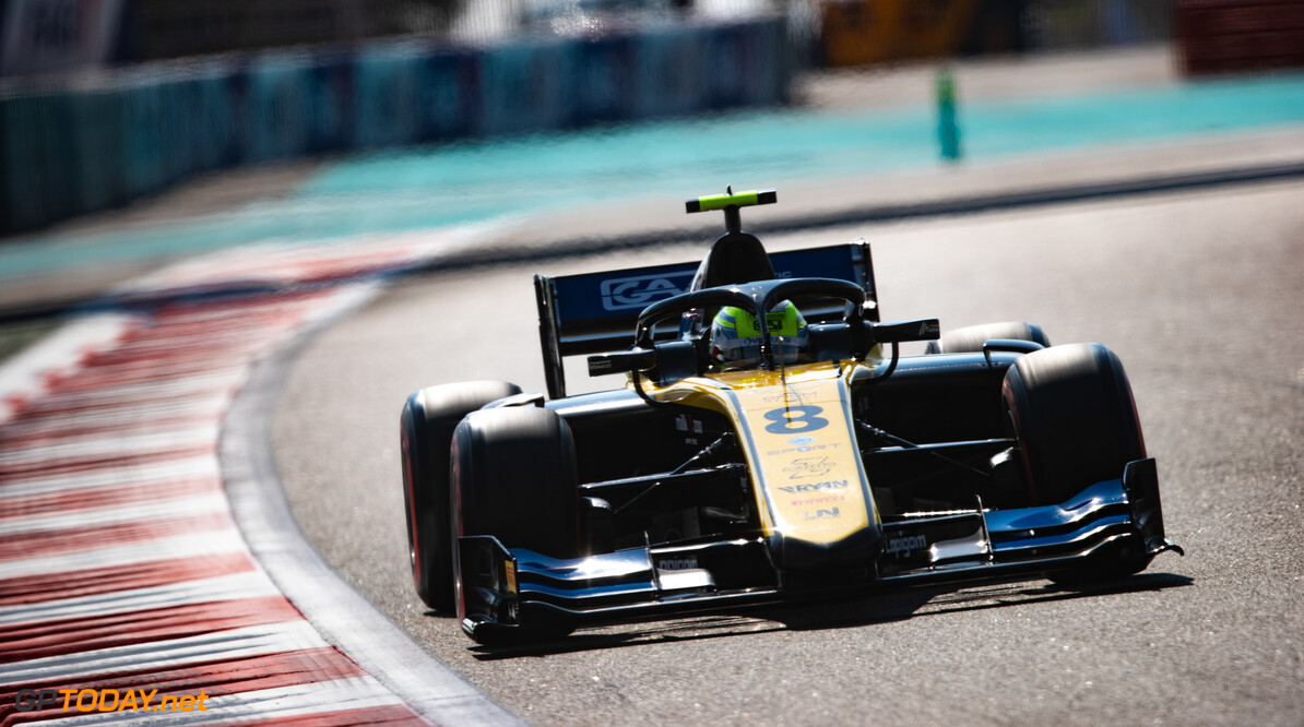 FIA Formula 2 YAS MARINA CIRCUIT, UNITED ARAB EMIRATES - NOVEMBER 29: Luca Ghiotto (ITA, UNI VIRTUOSI) during the Abu Dhabi at Yas Marina Circuit on November 29, 2019 in Yas Marina Circuit, United Arab Emirates. (Photo by Joe Portlock) FIA Formula 2 Joe Portlock  United Arab Emirates  FIA Formula 2