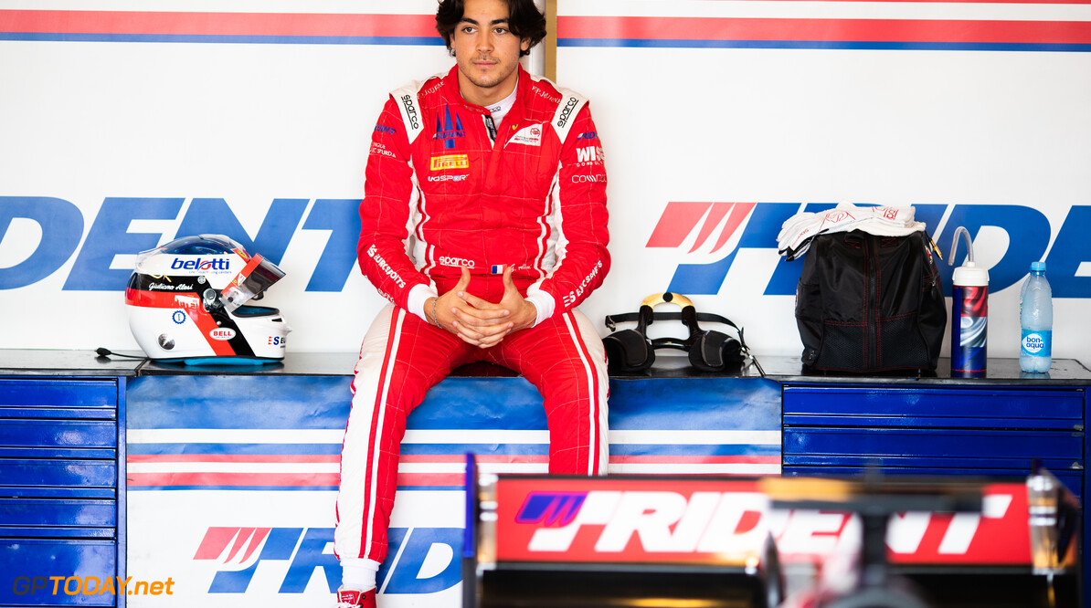 FIA Formula 2 YAS MARINA CIRCUIT, UNITED ARAB EMIRATES - NOVEMBER 29: Giuliano Alesi (FRA, TRIDENT) during the Abu Dhabi at Yas Marina Circuit on November 29, 2019 in Yas Marina Circuit, United Arab Emirates. (Photo by Joe Portlock) FIA Formula 2 Joe Portlock  United Arab Emirates  FIA Formula 2