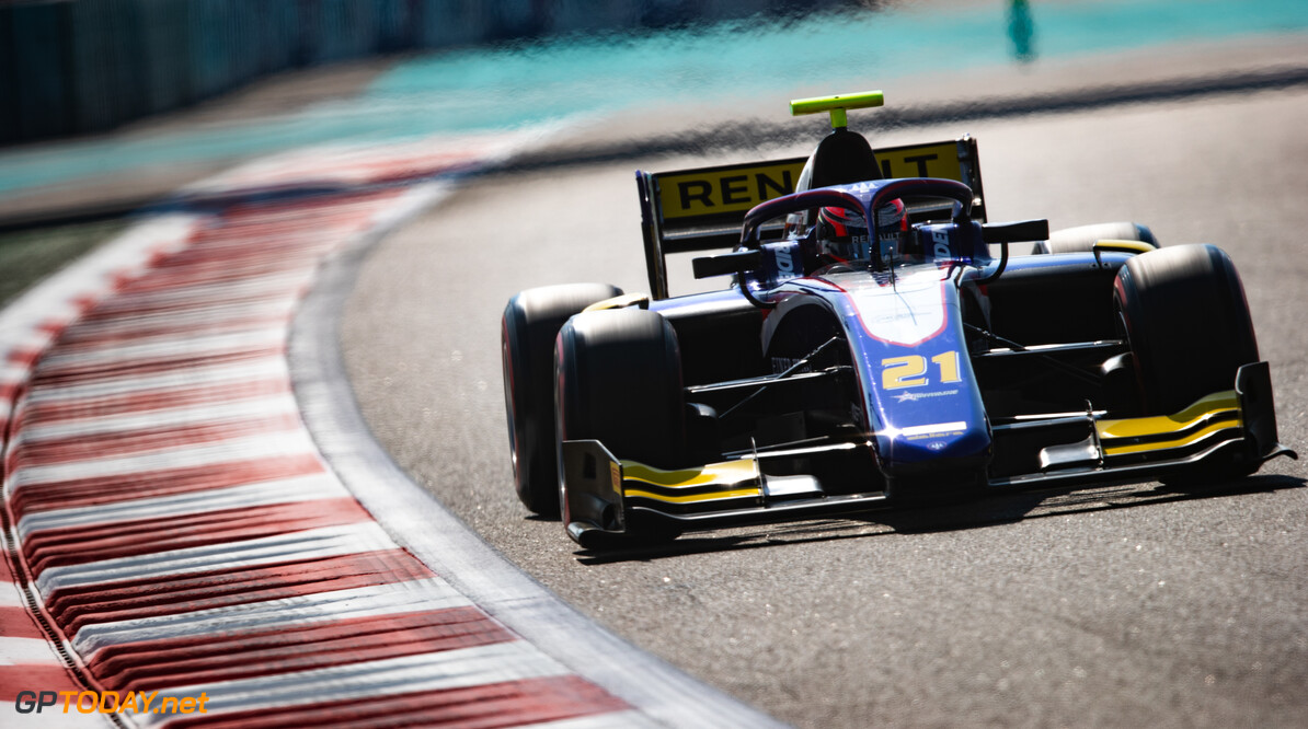 FIA Formula 2 YAS MARINA CIRCUIT, UNITED ARAB EMIRATES - NOVEMBER 29: Christian Lundgaard (DNK, TRIDENT) during the Abu Dhabi at Yas Marina Circuit on November 29, 2019 in Yas Marina Circuit, United Arab Emirates. (Photo by Joe Portlock) FIA Formula 2 Joe Portlock  United Arab Emirates  FIA Formula 2